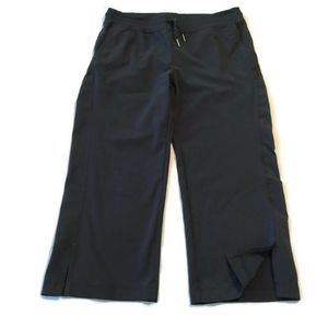 Eddie Bauer Sport Capri Pants Active Fit Black 8